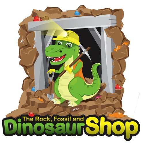 Help The Rock, Fossil and Dinosaur Shop with a new logo