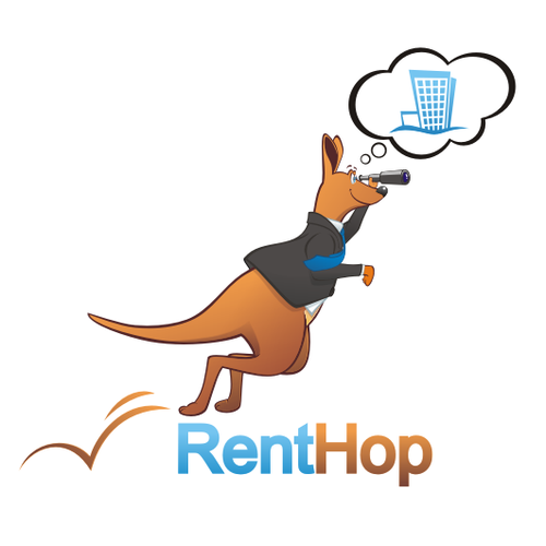 Design a cute kangaroo logo for RentHop.com