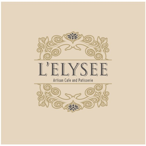 Create a classy logo for L'Elysee, a new artisan cafe and patisserie.