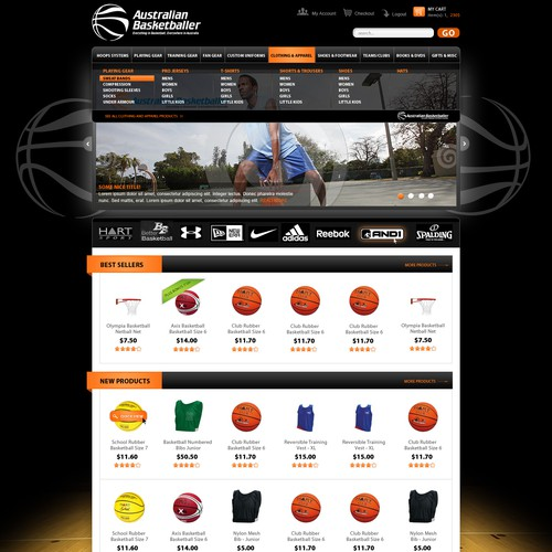 Australian Basketballer needs a new website design