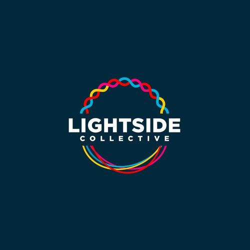 Bold Colorful Logo for Lightside Collective
