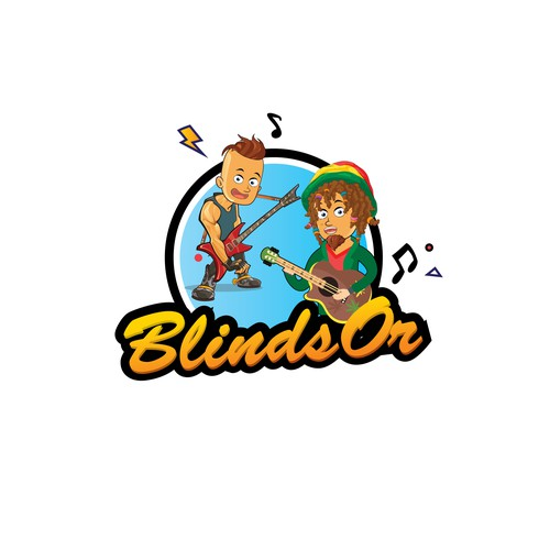 very fun logo for a online music quizz game!
