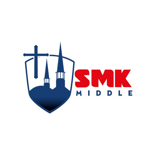 Logo concept for middle catholic school