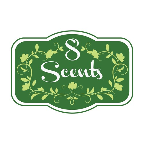8 Scents - logo for air fresheners and other home products