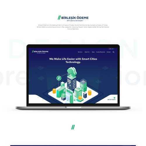 Fintech company Website Redesign...