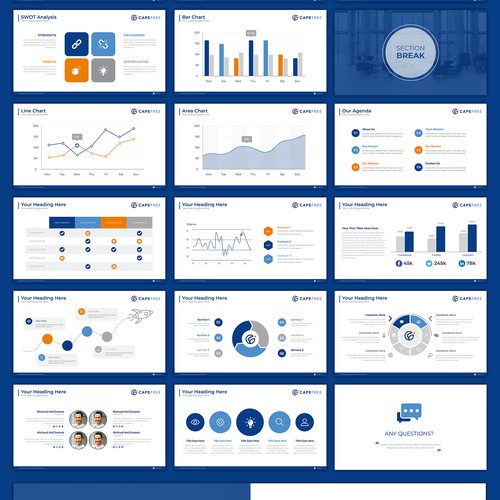 PowerPoint Template for Capefree Company
