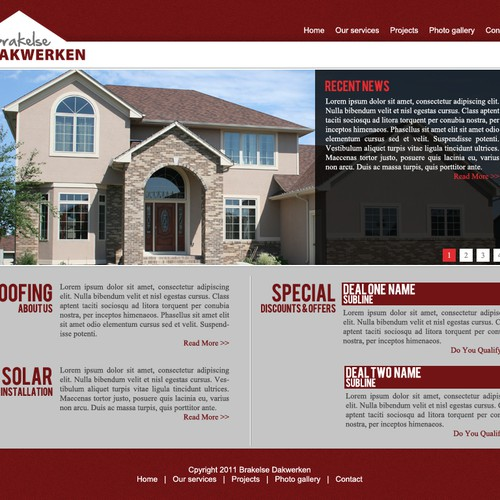 website design for Brakelse dakwerken