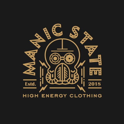 Dieselpunk inspired logo for Manic State
