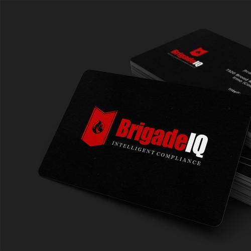 Logotipo para BrigadeIQ, Intelligent Compliance