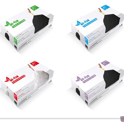 Ri-Pac - Packaging design for drawstring trash bags