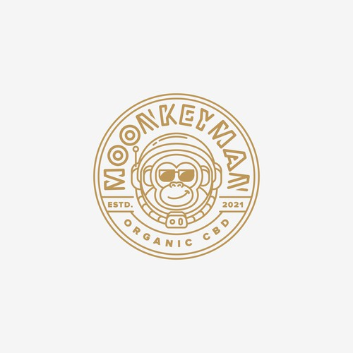 Moonkeyman logo design