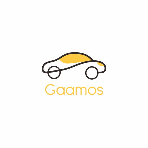 Logo simple for rent car