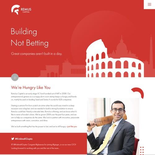Website Design for venture capital firm.