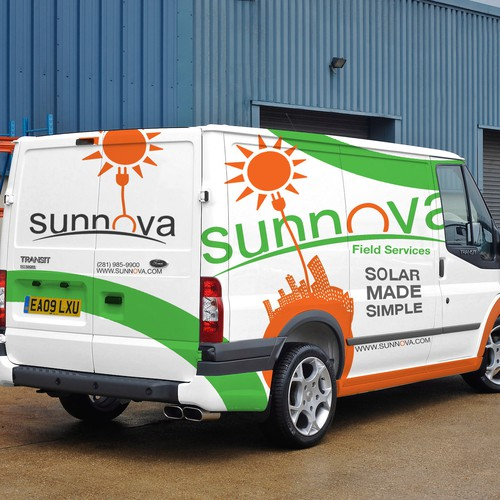 Design the car wrapping for leading solar energy company