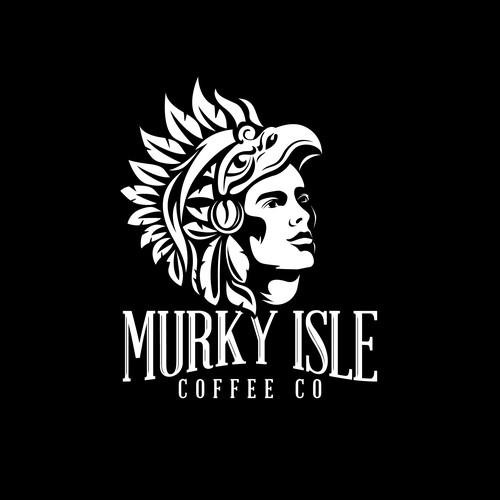 Aztec coffee logo concept