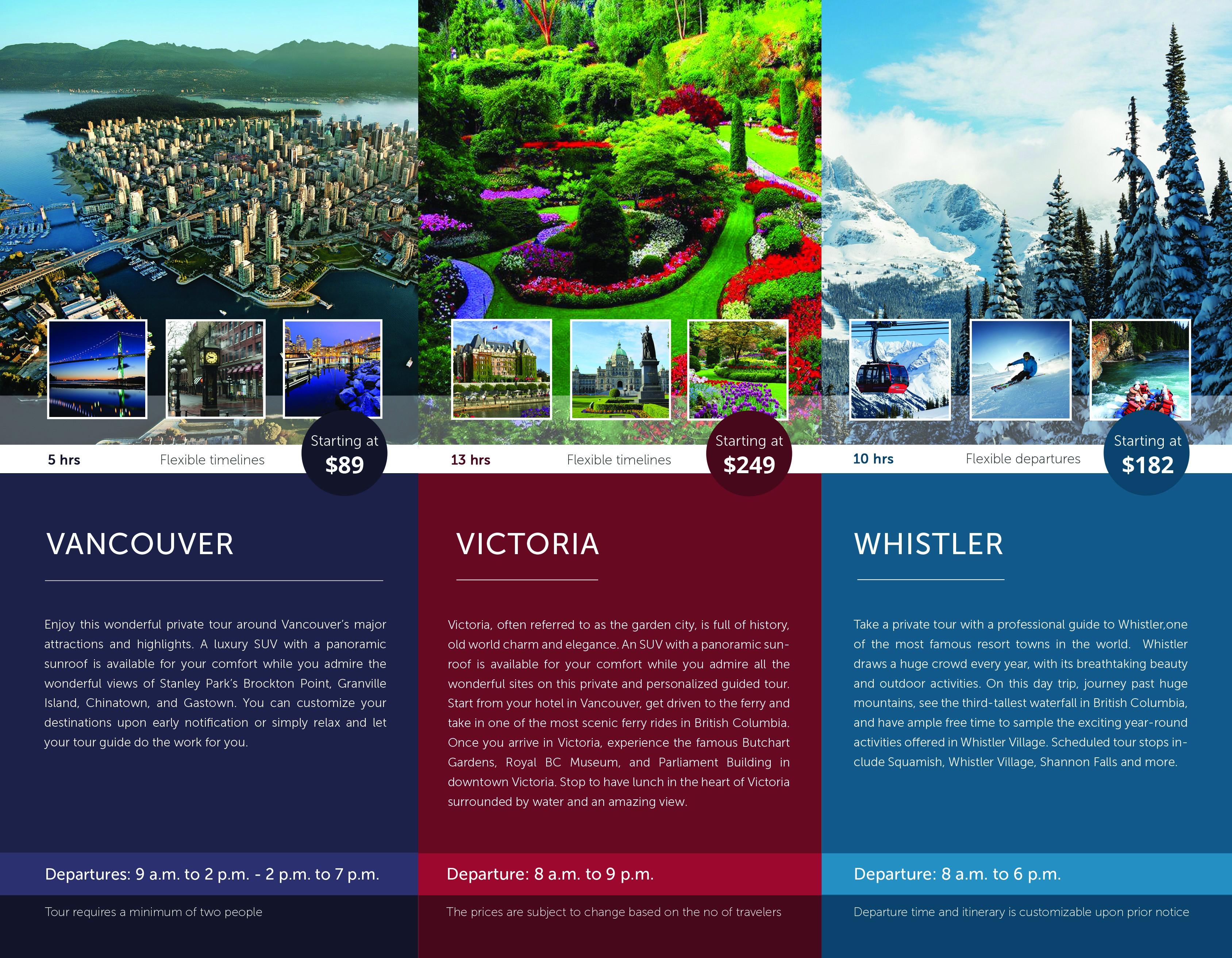 Guia Vancouver Tours Flyer