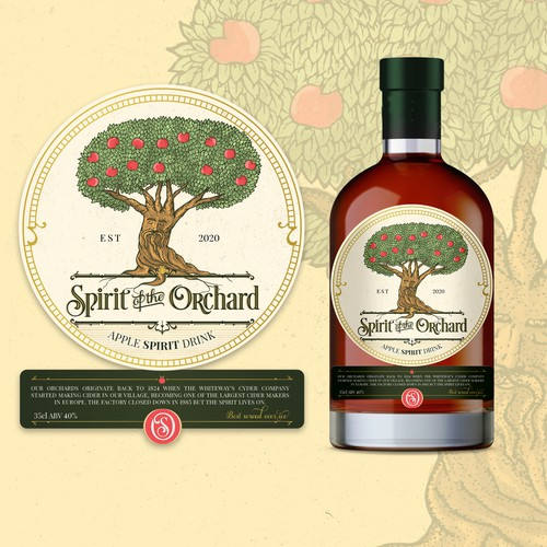 Cider Label design - Spirit of the Orchard 🌳✨🍎