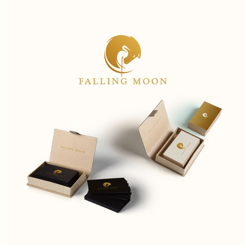 Welsh ponies, Falling Moon Farm Logo