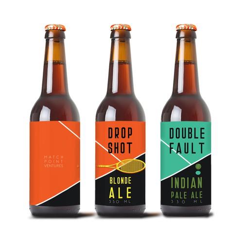 Tennis theme beer label concept