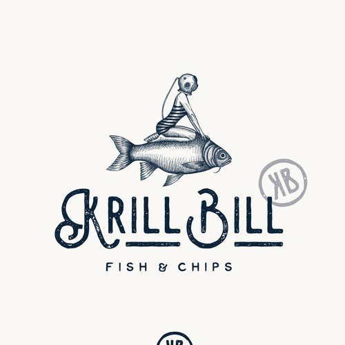 Logo design for Krill Bill restaurant
