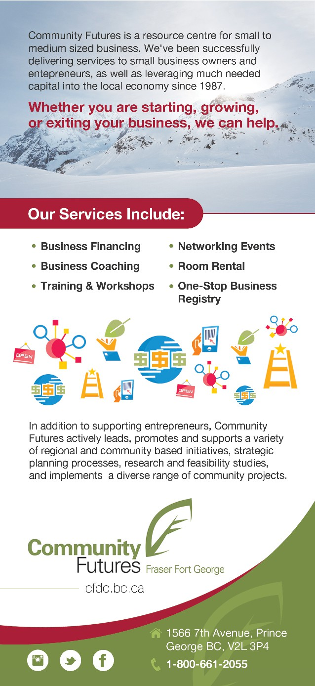 Design a Rack Card for Community Futures