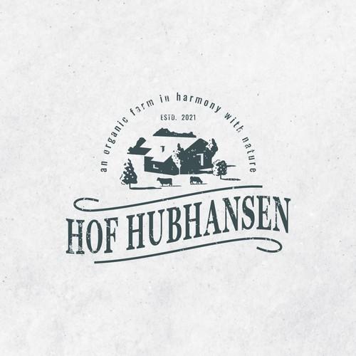 Vintage logo concept for Hof Hubhansen