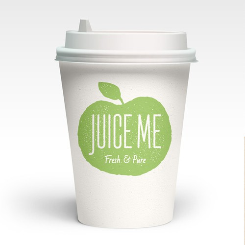 Create a organic label for a fresh and pure juice company.