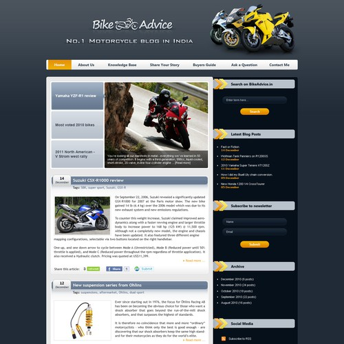 Kick-ass WP Theme Wanted for a Motorcycle Blog!