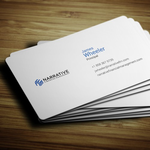 Clean business card for financial consultant in tech