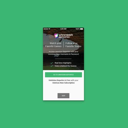 App design for Univision