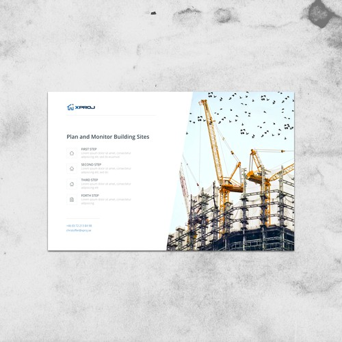 Landing page for a startup construction/consultant company
