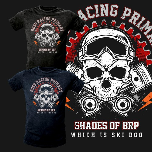 Team Boss looking for design with: skulls, gears, pistons, rider helmet, racing number