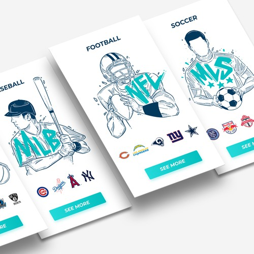 Illustrations for Event Ticket and Travel Site