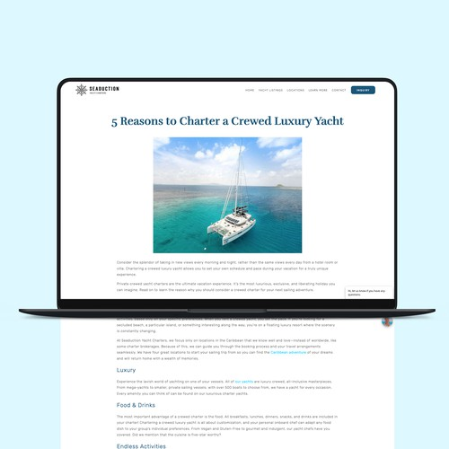 Seaduction Yacht Charters SEO & Blog