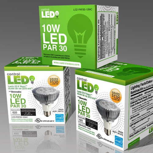 LED Bulb Packaging needs a new packaging or label design