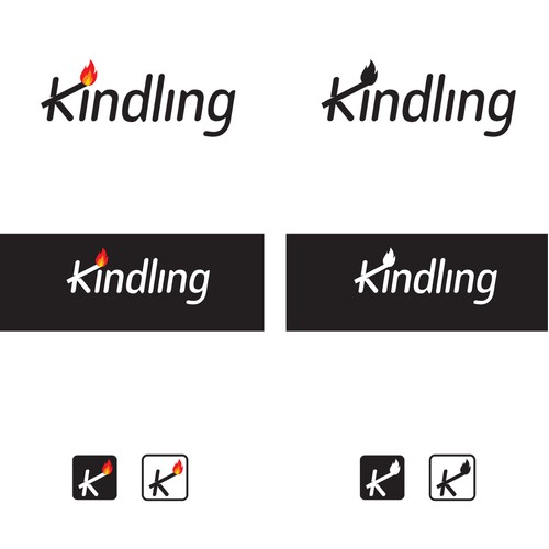 Clever logo design for Kindling Fire  Safety organization