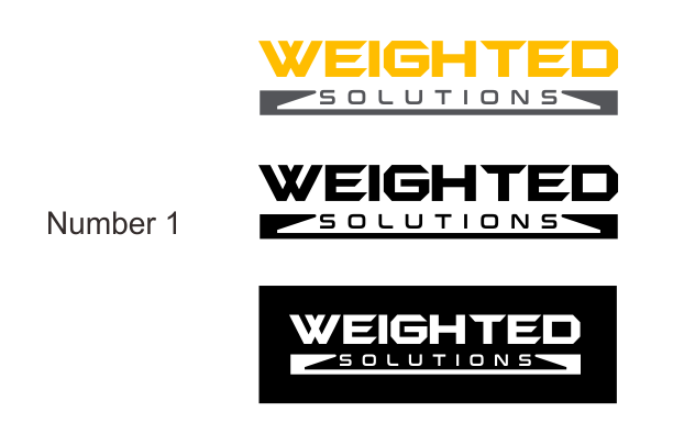 Create a logo for Weighted Solutions, an industrial scale rental company