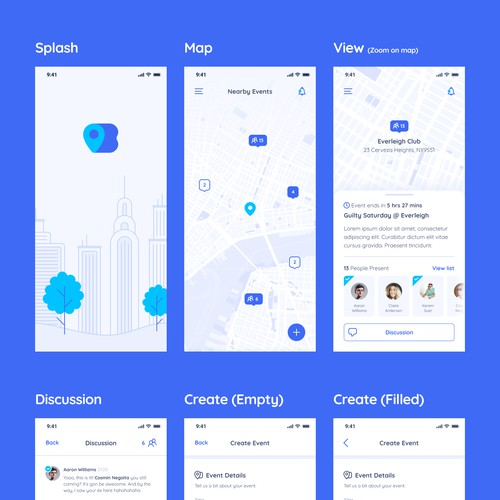 App Design for Event Sharing App