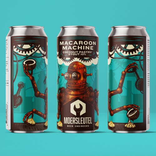Macaroon Machine Beer Label