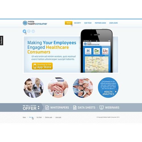 Mobile Health Consumer needs a new website design