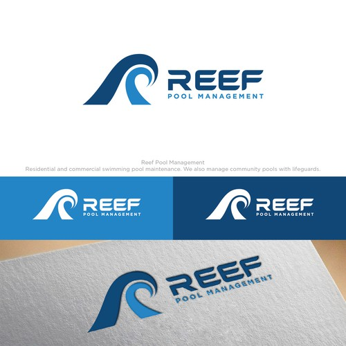 Logo concept for Reef Pool Management.