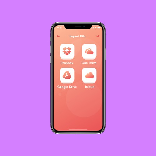 app screen ui/ux design