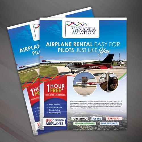 Creative concept for VANANDA Aviation