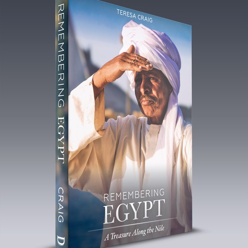 Create a book cover showcasing Egypts beauty