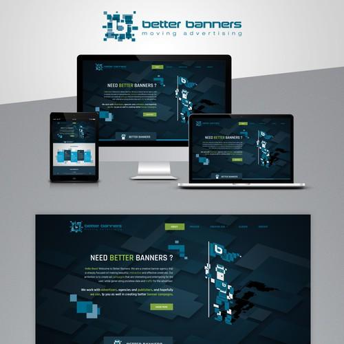 Home page design for Digital Banner agency