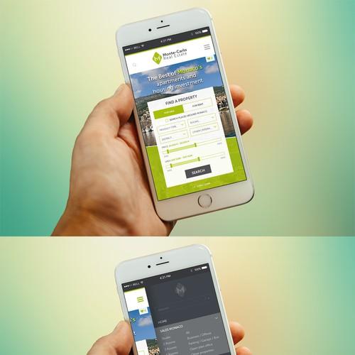 Monte Carlo - Homepage Mobile Mockup