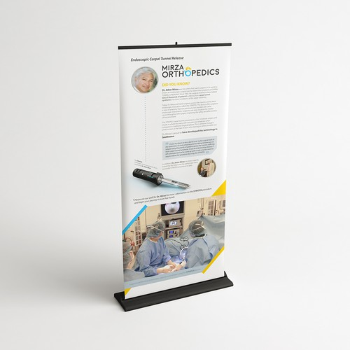 Mirza Orthopedics Roll-Up Banner