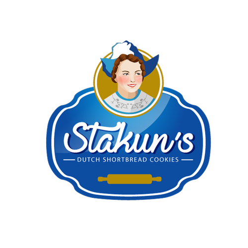 Mascott logo concept for Stakun's cookies