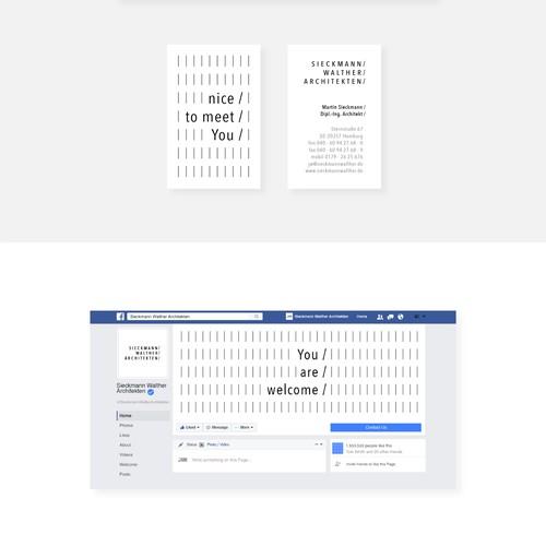 Minimalistic Corporate Identity Concept for Architecture Studio