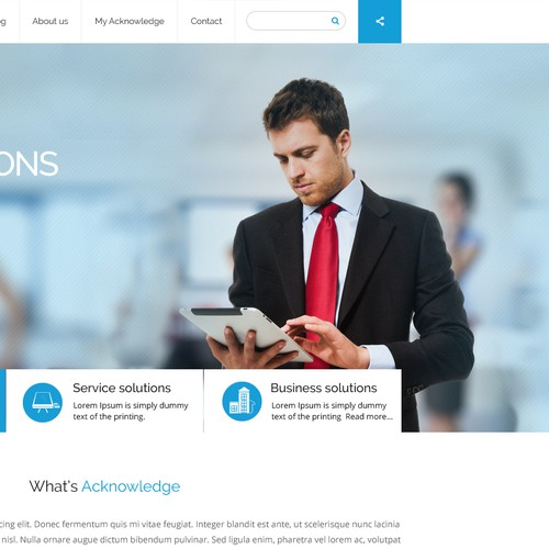 Create the corporate website of Acknowledge